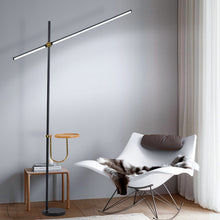 Load image into Gallery viewer, Black color Postmodern LED floor lamp for living room