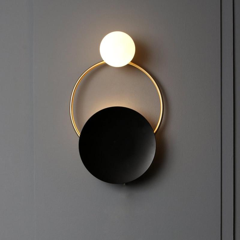Nordic Ring Bedside Modern Indoor Golden Wall Sconce Lights Fixture