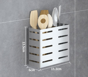 304 Stainless Steel Wall Mount Kitchen Storage Rack Dish Drainer