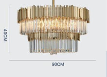 Load image into Gallery viewer, Post Modern Luxury K9 Crystal Lustre Led Wall Lamp