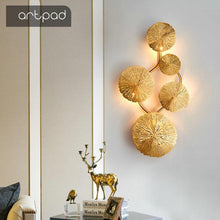 Load image into Gallery viewer,  Copper Lustre Lotus Leaf Wall Lamp