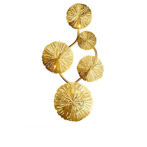 Copper Lustre Lotus Leaf Wall Lamp