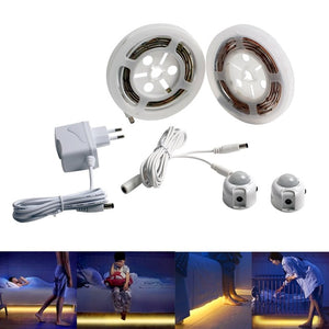 2 PCS PIR Motion Sensor  Tape 12V LED Night Light