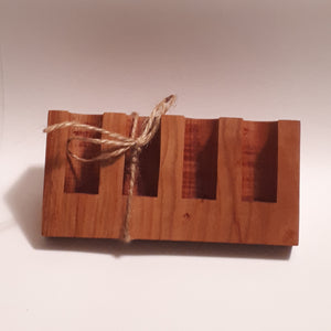 Wooden Holder-Roller Bottle (Angled)