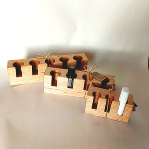 Wooden Essential Oil Holder Straight Back