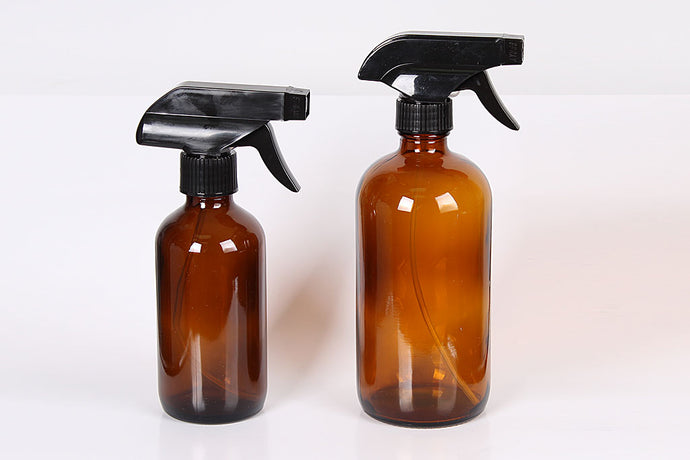 16 oz Glass Spray Bottle-Amber