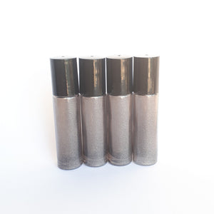 10ml Smokey Shimmer Roller Bottle with Plastic Roller. (4 pack)