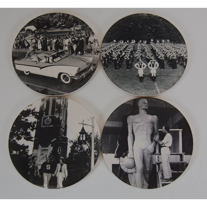 Michigan State University Historical Coaster Set - shop.msu.edu