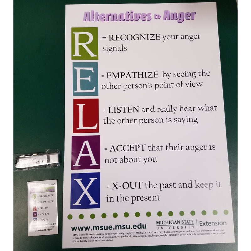 RELAX Alternatives to Anger Tool Kit - shop.msu.edu