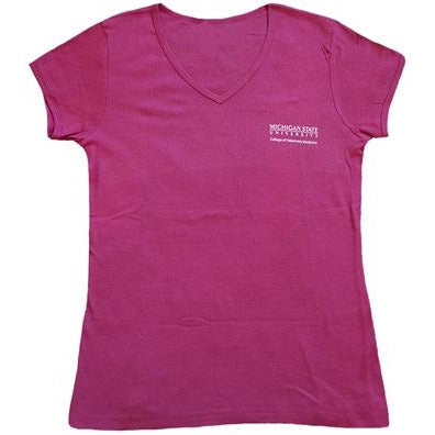 College of Veterinary Medicine Women's Pink T-shirt - shop.msu.edu