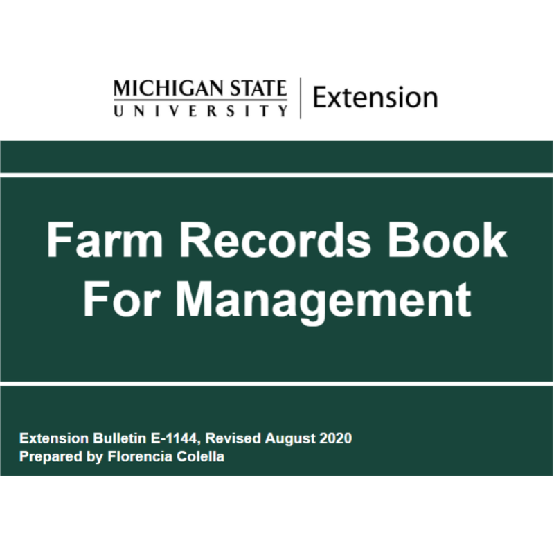 Farm Records Book for Management