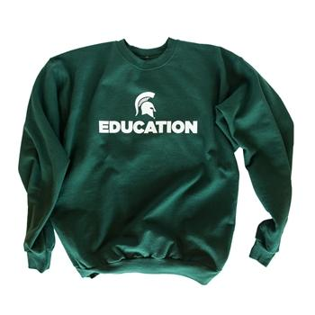 "College of Education ""Education"" Crewneck Sweatshirt, Green - shop.msu.edu"