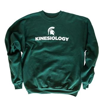 "College of Education ""Kinesiology"" Crewneck Sweatshirt, Green - shop.msu.edu"