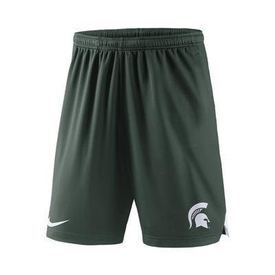 Nike Team MSU Knit Short - Green - shop.msu.edu