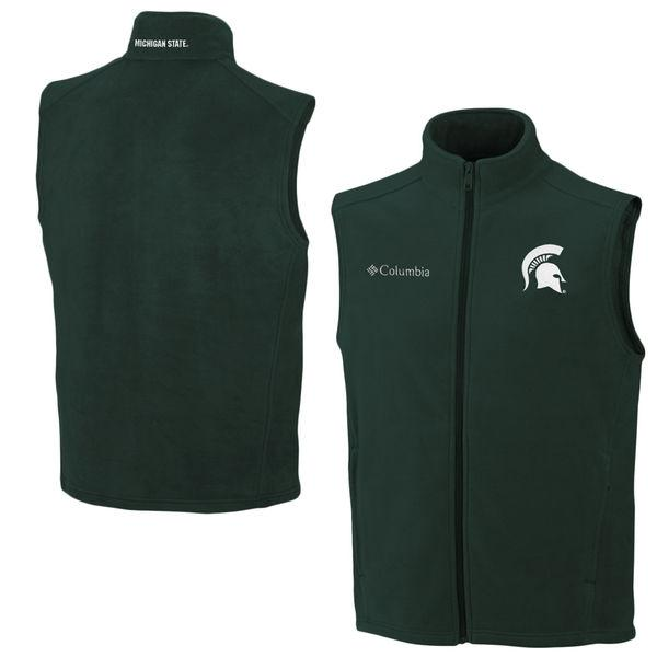 Columbia Michigan State Spartans Flanker Full Zip Vest – Green - shop.msu.edu