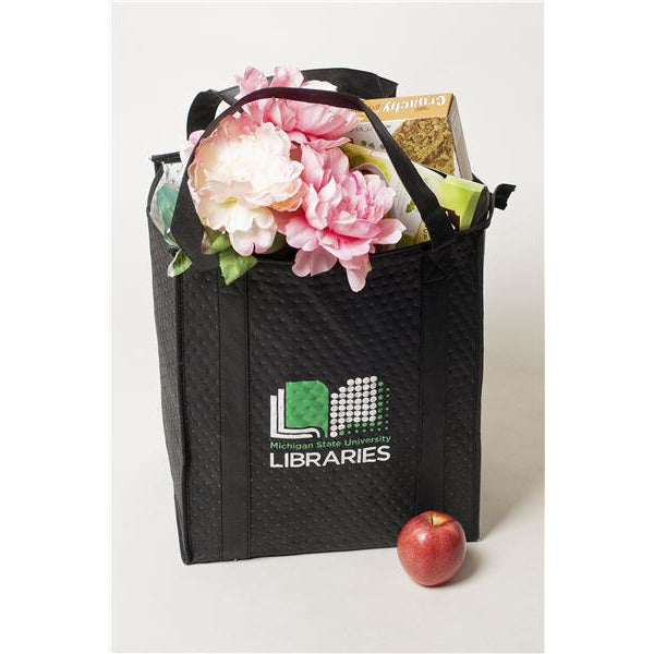MSU Libraries Black Insulated Bag