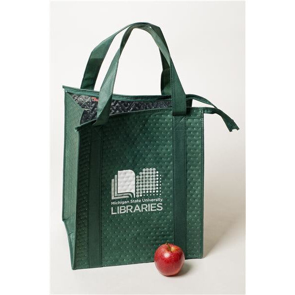 MSU Libraries Green Insulated Bag - shop.msu.edu