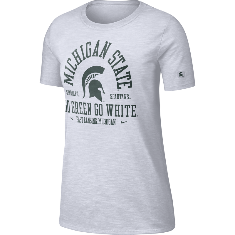 Nike Women's White Michigan State Slub T-shirt - shop.msu.edu