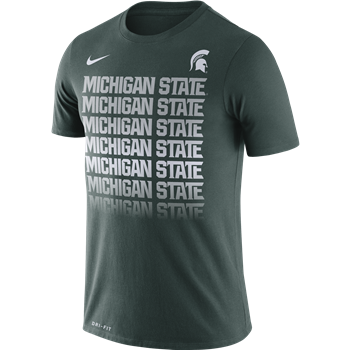 Nike Green Michigan State Fade Tee - shop.msu.edu