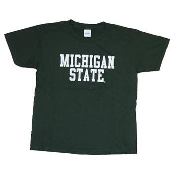 Youth Basic Michigan State Tee-Green - shop.msu.edu