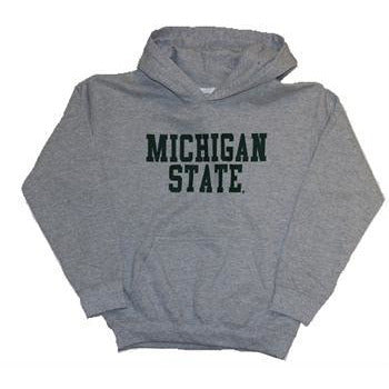 Youth Basic Michigan State Hoody-Gray - shop.msu.edu
