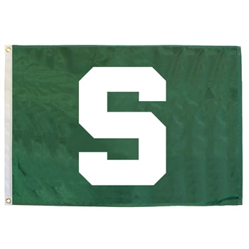 Block S Flag - 2' x 3' - shop.msu.edu