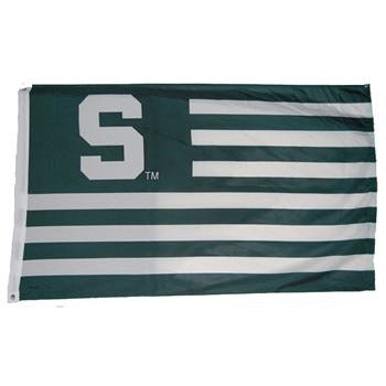 Block S Striped Flag - 3' x 5' - shop.msu.edu