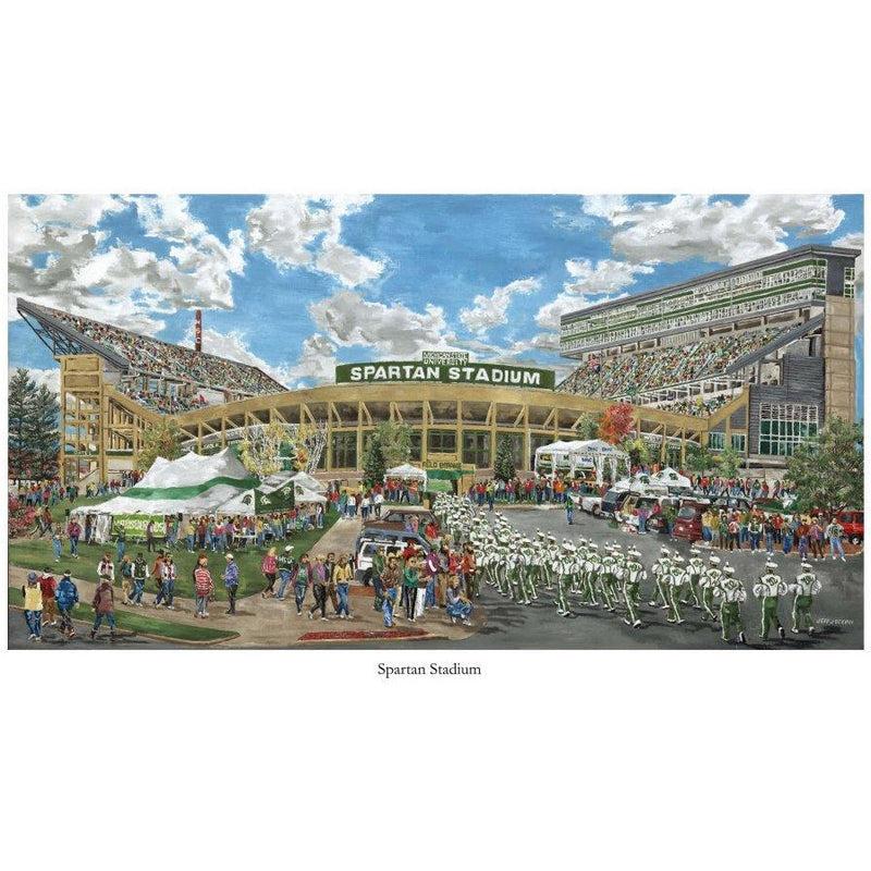 """Spartan Stadium"" Art Print - shop.msu.edu"