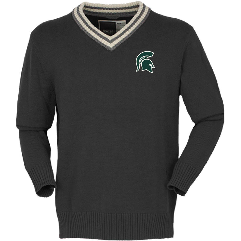 Spartan Helmet V-Neck Sweater - shop.msu.edu