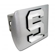 Block S Chrome Hitch Cover - shop.msu.edu