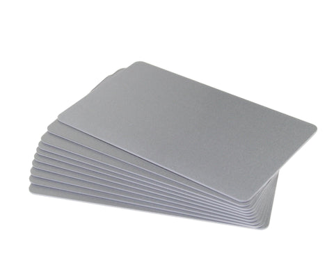 Silver, Blank Plastic Cards, CR80 PVC - With photo field