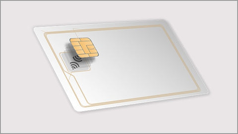 Infineon Dual Interface card CR80 With Contact Contactless chip
