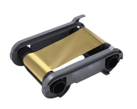 Evolis RCT016NAA Metallic Gold Printer Ribbon