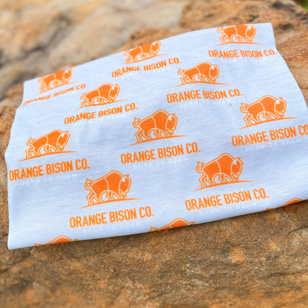 Orange Bison Company Logo Neck Gaiter