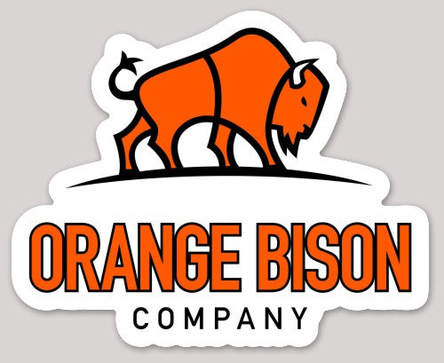 Orange Bison Company Sticker