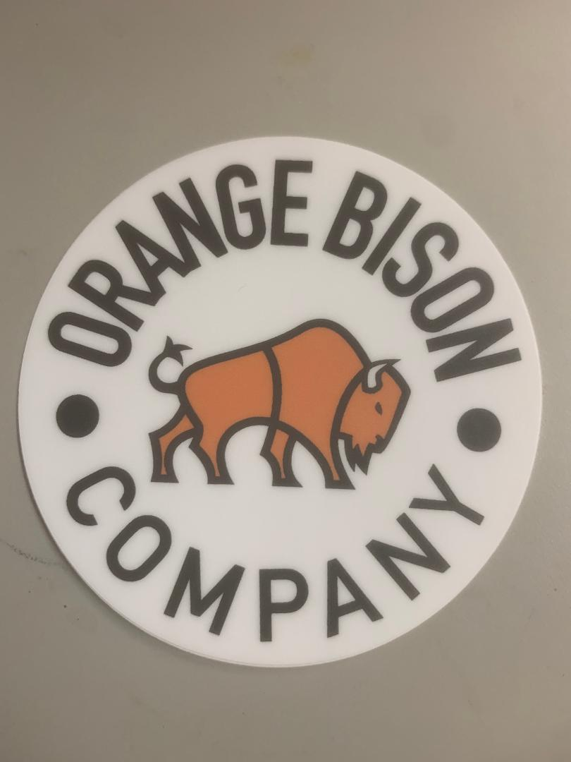 Circle Bison Logo Sticker