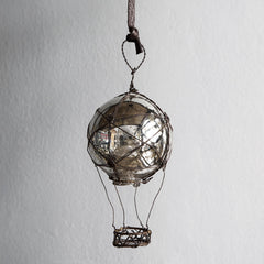 Hanging hot air balloon in glass