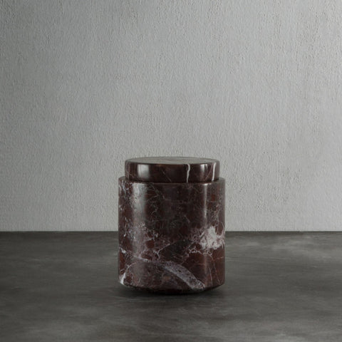 Jar in rosso levanto marble - medium