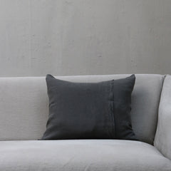 Linen Society Cushion in Dark Grey