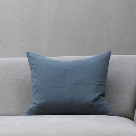 Linen Society Cushion in Dusty Blue