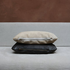 Pillow in Anthracite Calfskin
