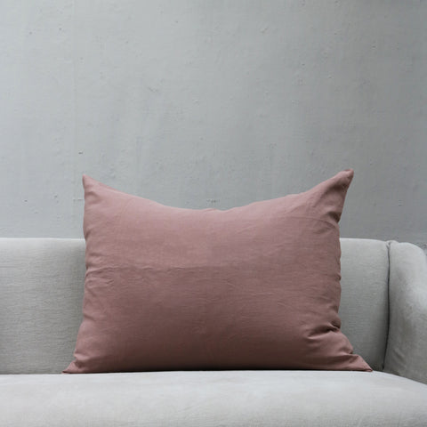 Linen Society Cushion in Dusty Rose