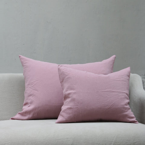 Linen Society Cushion in Dusty Lilac