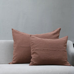 Linen Society Cushion in Sienna color