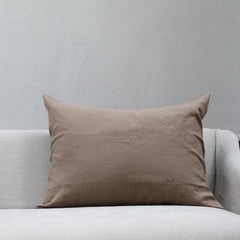 Linen Society Cushion in Warm Grey