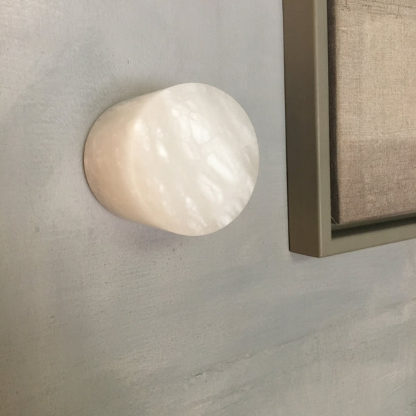 Small sconce/light fixture in alabaster