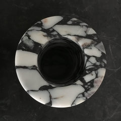Cylindrical shaped vase in breccia pontificia marble