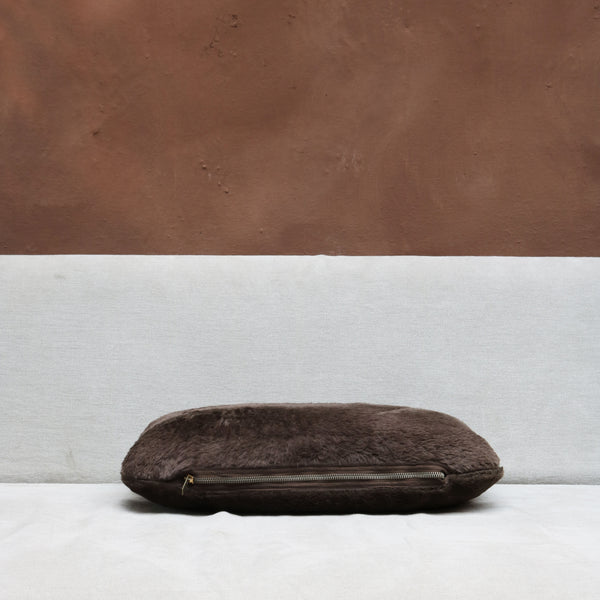 Pillow in Chocolate Lambskin