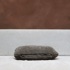 Pillow in Taupe Lambskin