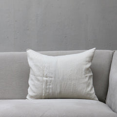 Linen Society Cushion in Chalky White